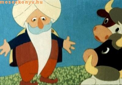 török, mehemed, tehén, tehenet, mese, mesekönyv, gyerek, farka, megrúg