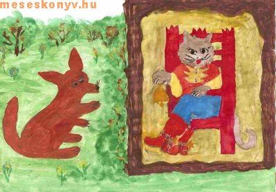 Macska, csizma, mese, gyerek, gyermek, király