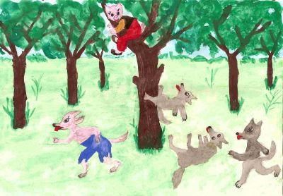 Kismalac, okos, farkas, gonosz, ház, kis malac, mese